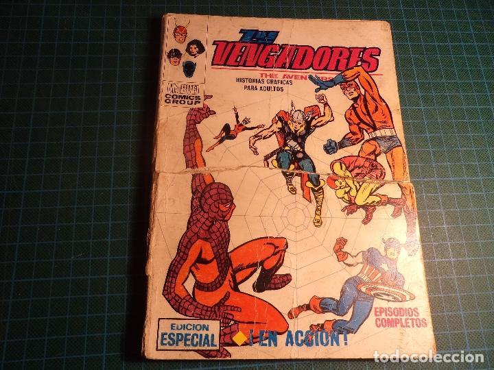 LOS VENGADORES. Nº 5. COMPLETO PERO CASTIGADO. PORTADA DEFECTUOSA. (T-3) (Tebeos y Comics - Vértice - V.1)
