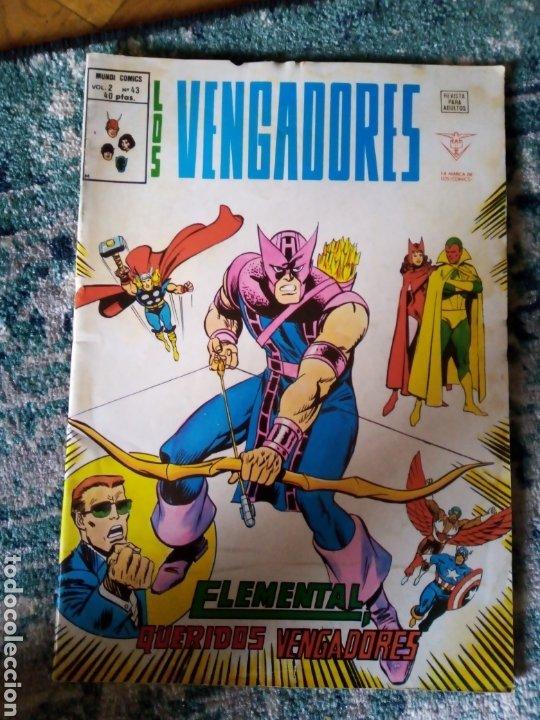 LOS VENGADORES VOL 2 NÚM 43 (Tebeos y Comics - Vértice - Vengadores)