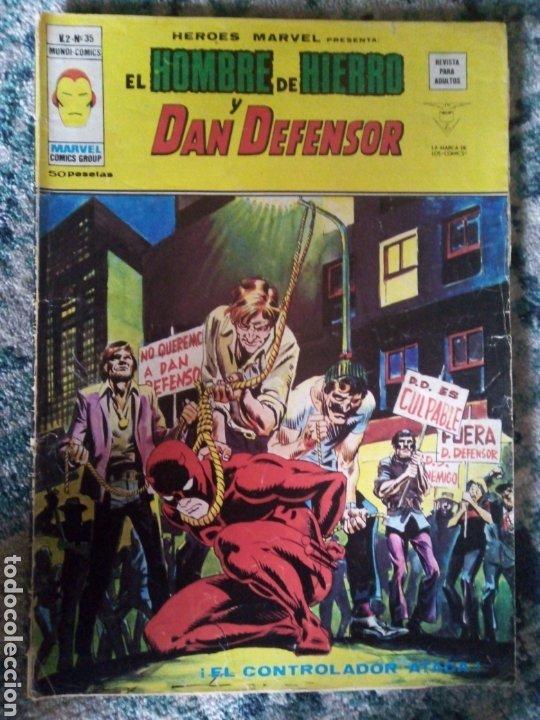 EL HOMBRE DE HIERRO Y DAN DEFENSOR. VOL 2 NÚM 35. HÉROES MARVEL. VÉRTICE (Tebeos y Comics - Vértice - Hombre de Hierro)
