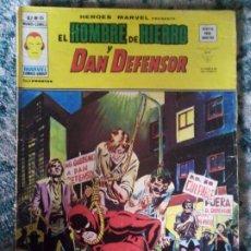 Cómics: EL HOMBRE DE HIERRO Y DAN DEFENSOR. VOL 2 NÚM 35. HÉROES MARVEL. VÉRTICE. Lote 199357146