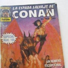 Comics : LA ESPADA SALVAJE DE CONAN EL BARBARO Nº 100 FORUM MUCHOS MAS A LA VENTA MIRA TUS FALTAS C12. Lote 199360583