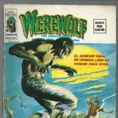 Cómics: WEREWOLF VOLUMEN 2 NÚMERO 3, 1975, VERTICE, BUEN ESTADO. COLECCIÓN A.T.. Lote 199807810