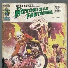 Comics : SUPER HÉROES VOLUMEN 2, 3: MOTORISTA FANTASMA, 1975, VERTICE, USADO. COLECCIÓN A.T.. Lote 199911126