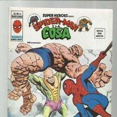 Comics : SUPER HÉROES VOLUMEN 2, 61: SPIDER-MAN Y LA COSA, 1977, VERTICE, MUY BUEN ESTADO. COLECCIÓN A.T.. Lote 200744372