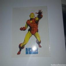Comics : PEGATINA ORIGINAL HOMBRE DE HIERRO DE EDICIONES VERTICE FORMATO GRANDE 9X13.50. Lote 201324876