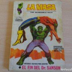 Cómics: LA MASA Nº 22. EL FIN DEL DR. SANSON. VERTICE 1972. Lote 202005681
