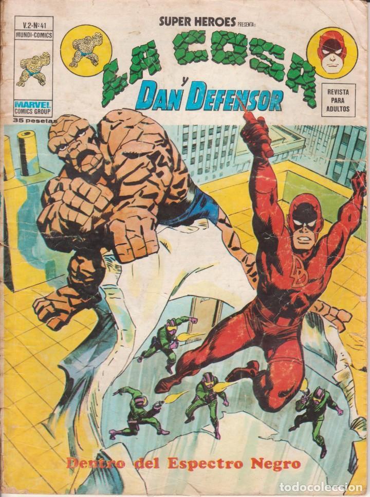 CÓMIC VÉRTICE V.2 ´ SUPER HEROES ´ Nº 41 VOL.2 MARVEL ¨LA COSA Y DAN DEFENSOR 1976 (Tebeos y Comics - Vértice - Super Héroes)