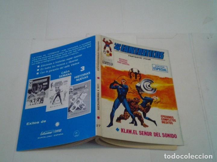 Cómics: LOS 4 FANTASTICOS - VERTICE - VOLUMEN 1 - NUMERO 27 - MUY BUEN ESTADO - CJ 26 - GORBAUD - Foto 7 - 203385617