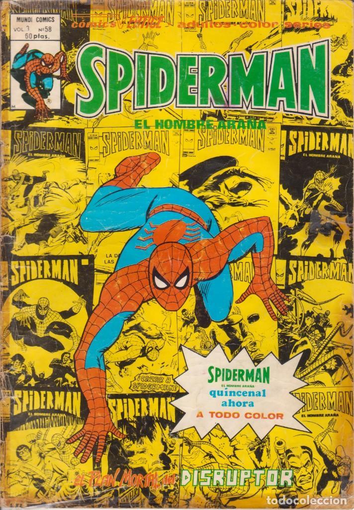CÓMIC ` SPIDERMAN ´ Nº 58 V.3 ED.VÉRTICE 1979 !! COLOR !! (Tebeos y Comics - Vértice - V.3)