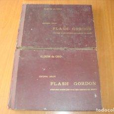 Cómics: 2 ALBUM DE ORO FLASH GORDON , AÑOS 50 , AVENTURAS INTERPLANETARIAS MÁS FAMOSAS DEL MUNDO .. Lote 203888825