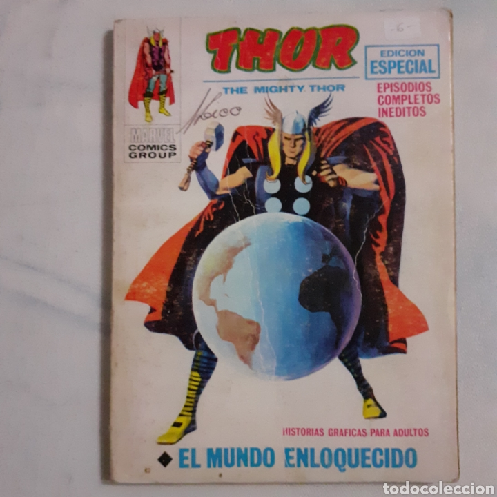 THOR. EL MUNDO ENLOQUECIDO. MARVEL COMICS GROUP. EDICIONES VERTICE. 1969. (Tebeos y Comics - Vértice - Thor)