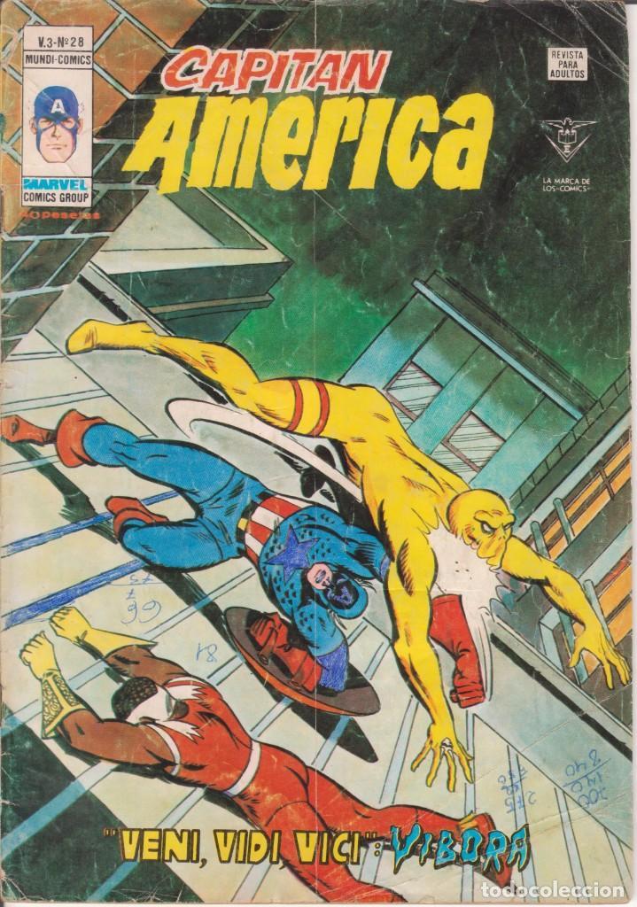 CÓMIC ` CAPITÁN AMÉRICA ´ Nº 28 V.3 ED.VÉRTICE 1979 DE 40 PTS. (Tebeos y Comics - Vértice - Capitán América)