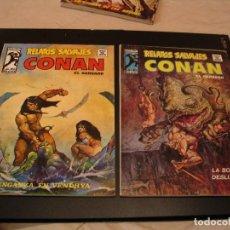 Comics : LOTE 2 X CONAN RELATOS SALVAJES Nº 51-52 VERTICE MARVEL. Lote 204493312