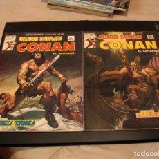 Comics : LOTE 2 X CONAN RELATOS SALVAJES Nº 80-81 VERTICE MARVEL. Lote 204493511