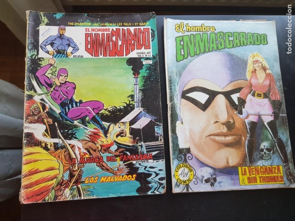 LOTE 2 TEBEOS / CÓMIC ORIGINALES EL HOMBRE ENMASCARADO THE PHANTOM VÉRTICE VALENCIANA (Tebeos y Comics - Vértice - Hombre Enmascarado)