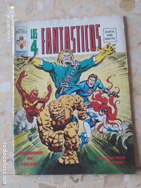 LOS 4FANTASTICOS VOL 2 N 9 VÉRTICE MUY BUEN ESTADO/BUEN ESTADO CON POSTER (Tebeos y Comics - Vértice - Thor)