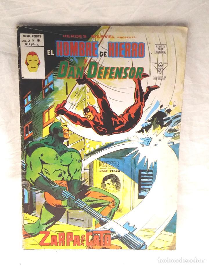 EL HOMBRE DE HIERRO Y DAN DEFENSOR VOL 2 Nº 54 HEROES MARVEL VERTICE AÑO 1975 (Tebeos y Comics - Vértice - Hombre de Hierro)
