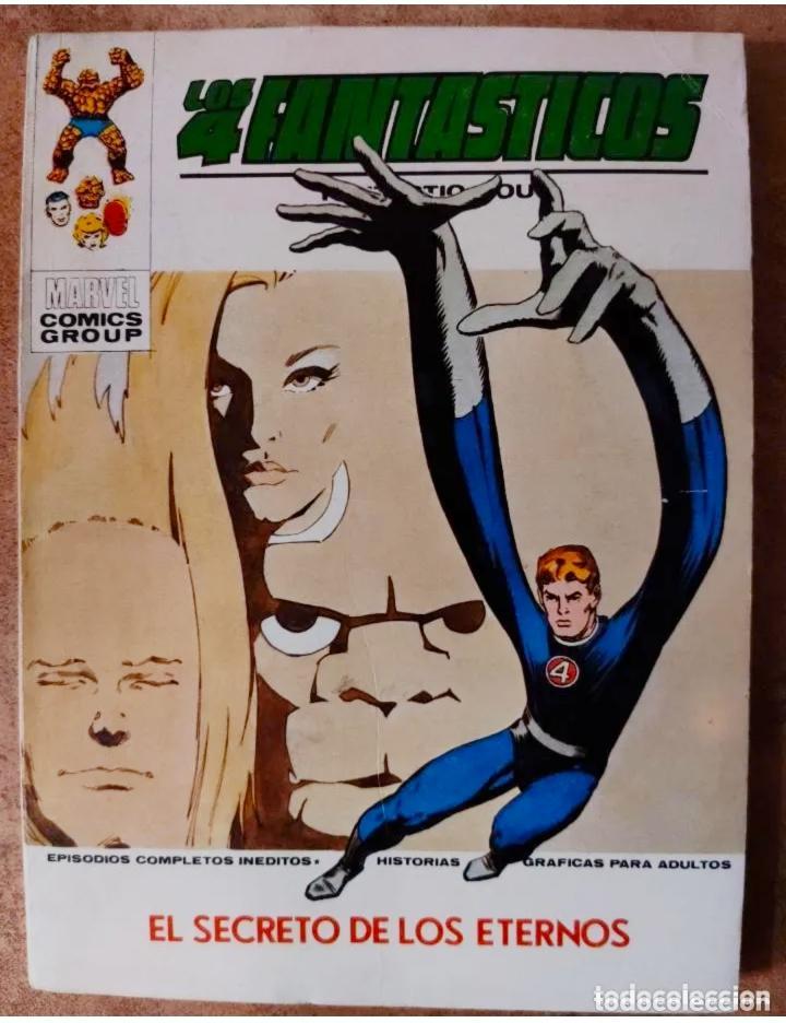 LOS 4 FANTASTICOS, V.1 Nº57, EDT. VERTICE, LOS SECRETOS DE LOS ETERNOS, 1973 (Tebeos y Comics - Vértice - 4 Fantásticos)