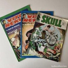 Cómics: LOTE SUPER HEROES PRESENTA: SKULL Nº 52 - MARVEL - EDITORIAL VÉRTICE + VITO NERVIO Nº 1 Y Nº4. Lote 205369532
