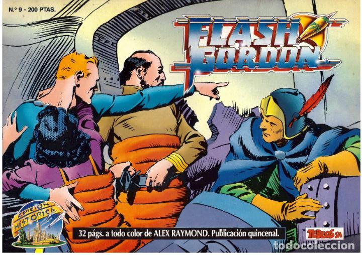 COMIC FLASH GORDON, EDICION HISTORICA, Nº 9 (Tebeos y Comics - Vértice - Flash Gordon)
