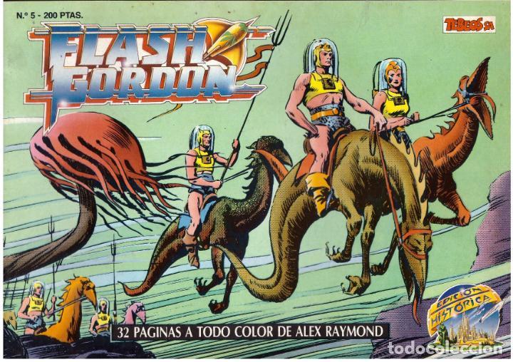 COMIC FLASH GORDON, EDICION HISTORICA, Nº 5 (Tebeos y Comics - Vértice - Flash Gordon)