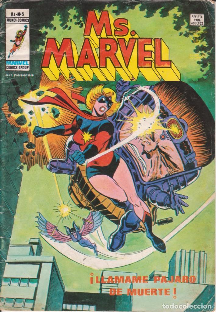 CÓMIC ` MS. MARVEL ´ Nº 5 V.1 ED. VÉRTICE 1978 (Tebeos y Comics - Vértice - V.1)