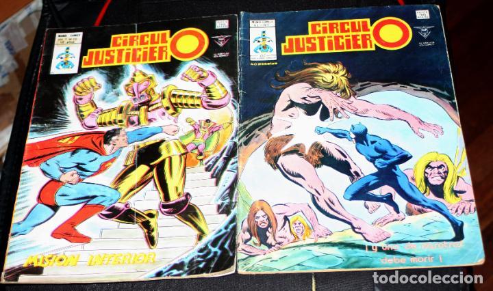 CIRCULO JUSTICIERO Nº7 + Nº15 (Tebeos y Comics - Vértice - Surco / Mundi-Comic)
