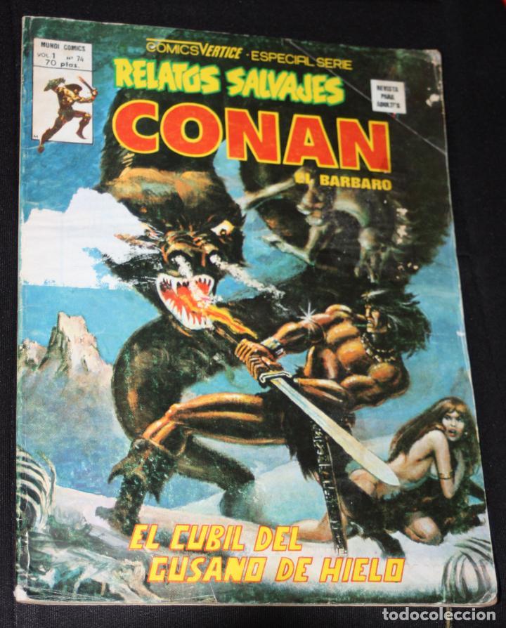 CONAN EL BARBARO VOL.1 Nº74 (RELATOS SALVAJES): EL CUBIL DEL GUSANO DE HIELO (Tebeos y Comics - Vértice - Conan)