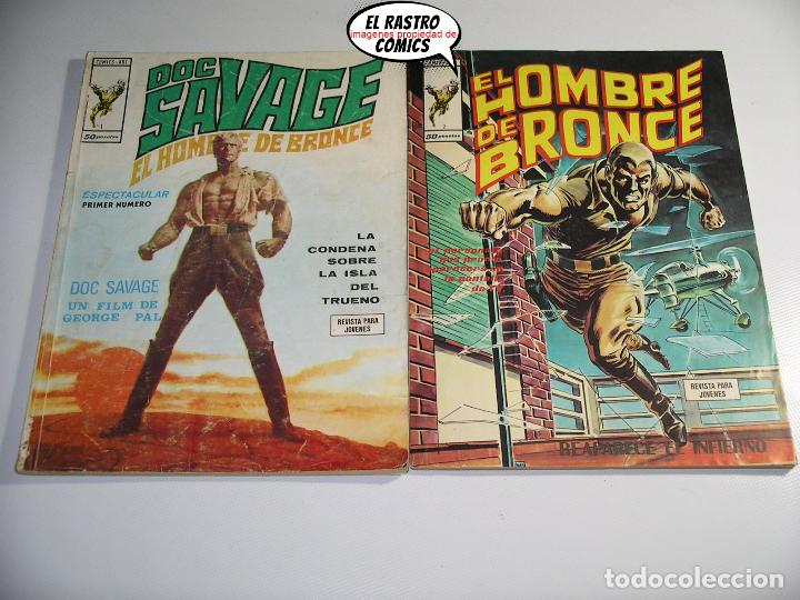 Cómics: Doc Savage, Colección completa, ed. Vertice año 1974, El hombre de bronce, OFERTA!!, 3V - Foto 3 - 205576052