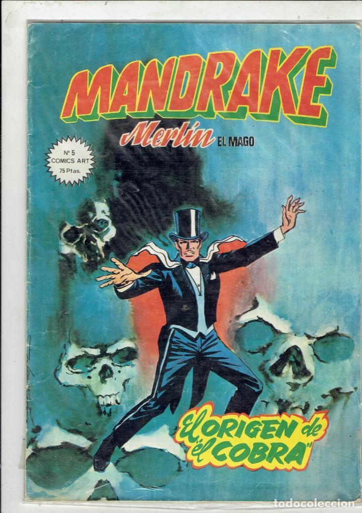 MANDRAKE MERLIN EL MAGO N,5 ENEL ORIGEN DE EL COBRA EDICIONES VERTICE (Tebeos y Comics - Vértice - Otros)