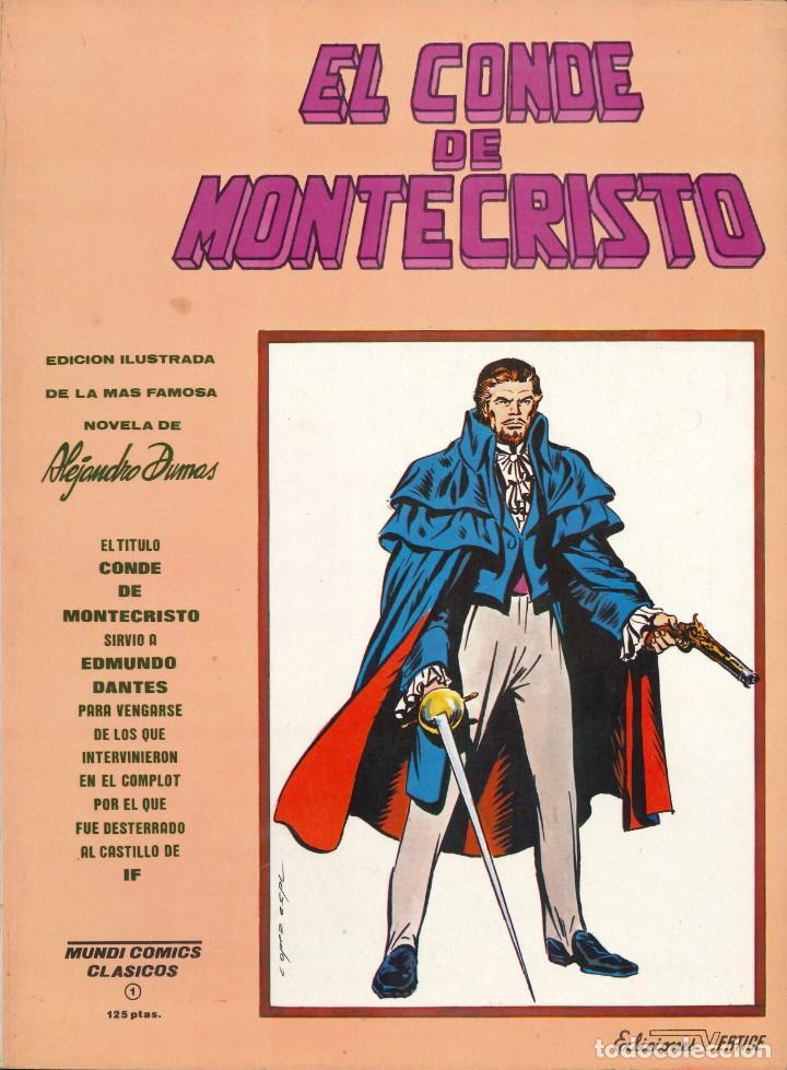 MUNDI COMICS CLÁSICOS - EDICIONES VÉRTICE / NÚMERO 1 (EL CONDE DE MONTECRISTO) (Tebeos y Comics - Vértice - Otros)
