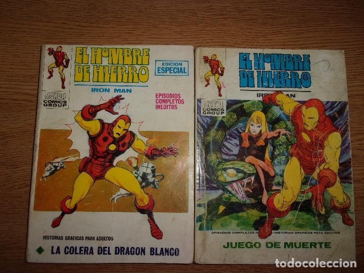 EL HOMBRE DE HIERRO - EDICIONES VERTICE - LOTE DE 2 NUMEROS. (Tebeos y Comics - Vértice - Hombre de Hierro)
