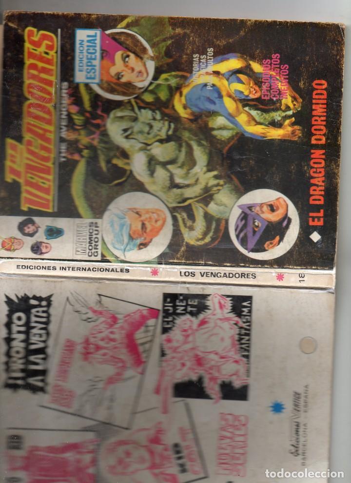 Cómics: COMIC VERTICE 1970 LOS VENGADORES VOL1 Nº 18 ( BUEN ESTADO ) - Foto 3 - 206347287