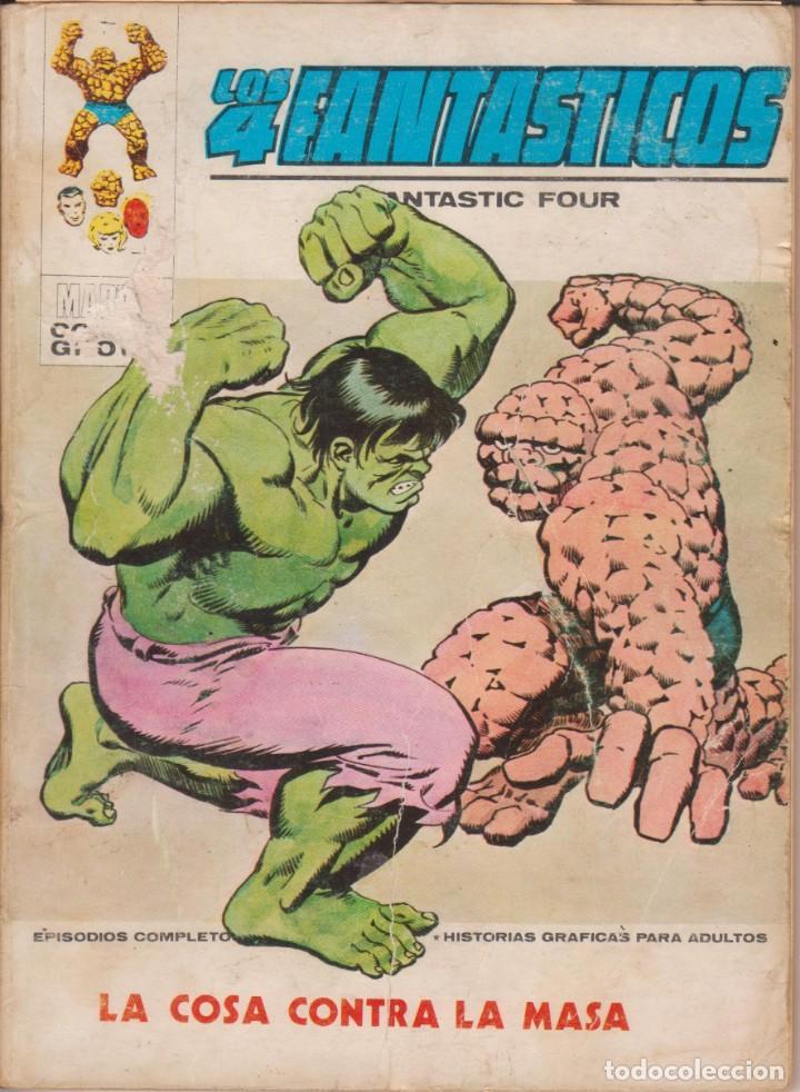"""CÓMIC VÉRTICE V.1 """" LOS 4 FANTÁSTICOS """" Nº 56 VOL.1 MARVEL FANTASTIC FOUR (TACO) 1972 (Tebeos y Comics - Vértice - 4 Fantásticos)"""