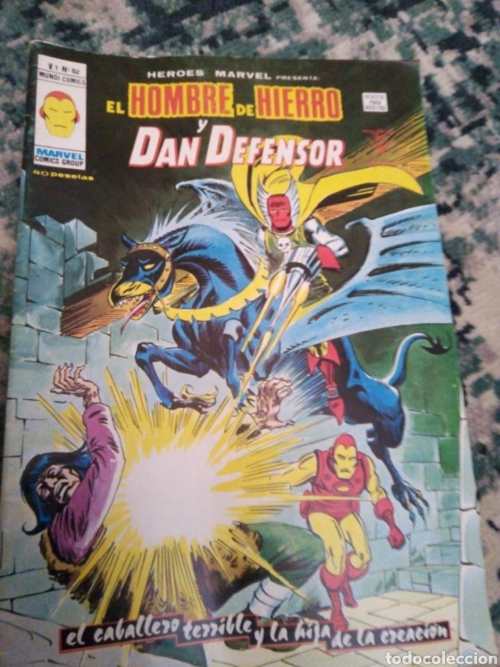HÉROES MARVEL VOL 1 NÚM 52. HOMBRE DE HIERRO Y DAN DEFENSOR. VÉRTICE (Tebeos y Comics - Vértice - Hombre de Hierro)