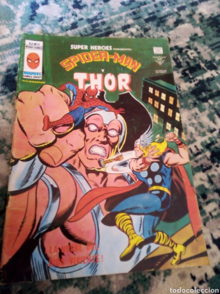 SUPER HÉROES VOL 2 NÚM 97. SPIDERMAN Y THOR. VÉRTICE (Tebeos y Comics - Vértice - Otros)