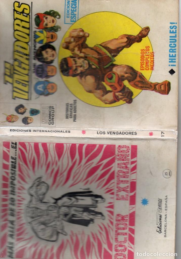 Cómics: COMIC VERTICE 1970 LOS VENGADORES VOL1 Nº 17 ( BUEN ESTADO ) - Foto 3 - 206417910