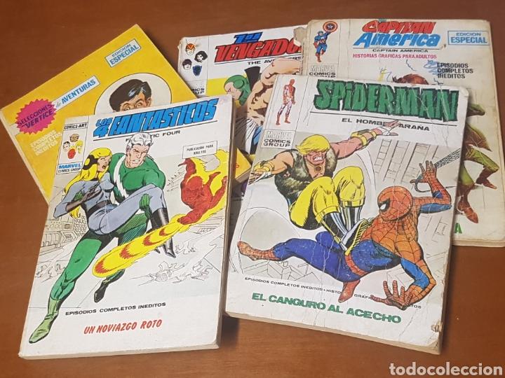 LOTE DE 6 COMICS EDICIONES INTERNACIONALES MARVEL, VERTICE, COMICS GROUP, SPIDERMAN, LOS VENGADORES (Tebeos y Comics - Vértice - 4 Fantásticos)