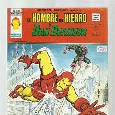 Cómics: HEROES MARVEL 33: HOMBRE DE HIERRO Y DAN DEFENSOR, 1977, VERTICE. COLECCIÓN A.T.. Lote 206770066