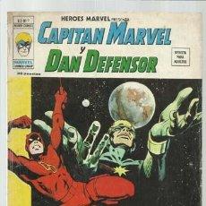 Cómics: HEROES MARVEL VOL. 2, 9: CAPITÁN MARVEL Y DAN DEFENSOR, 1975, VERTICE. COLECCIÓN A.T.. Lote 206770327