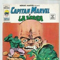 Cómics: HEROES MARVEL VOL. 2 7: CAPITÁN MARVEL Y LA MASA, 1975, VERTICE, BUEN ESTADO. COLECCIÓN A.T.. Lote 206770631