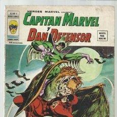 Cómics: HEROES MARVEL VOL. 2 6: CAPITÁN MARVEL Y DAN DEFENSOR, 1975, VERTICE. COLECCIÓN A.T.. Lote 206770843