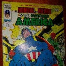 Cómics: INSUPERABLES VOLUMEN 1 NUMERO 13 : HOMBRE DE HIERRO Y CAPITAN AMERICA. BUEN ESTADO. Lote 207042180
