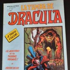 Cómics: DRACULA (1981, VERTICE) -LA TUMBA- 3 · IV-1981 · EL MONSTRUO DE LAS TIERRAS YERMAS. Lote 207731512