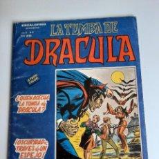 Cómics: DRACULA (1981, VERTICE) -LA TUMBA- 2 · III-1981 · ¿QUIEN ACECHA LA TUMBA DE DRACULA?. Lote 207732440