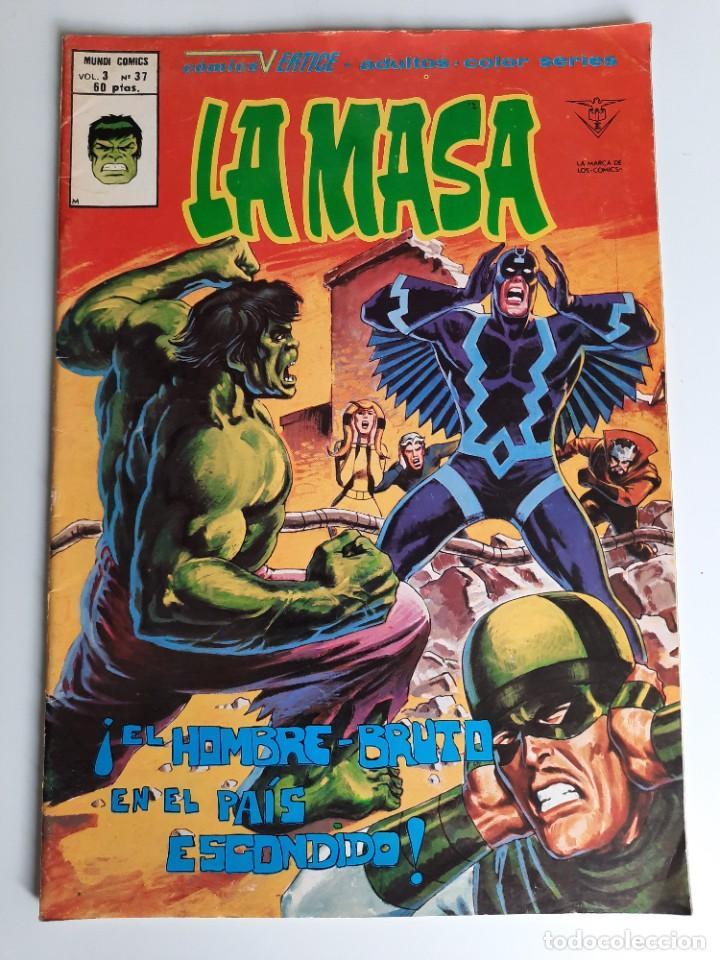 HULK (1975, VERTICE) -LA MASA- 37 · XII-1979 · ¡EL HOMBRE-BRUTO EN EL PAIS ESCONDIDO! (Tebeos y Comics - Vértice - La Masa)