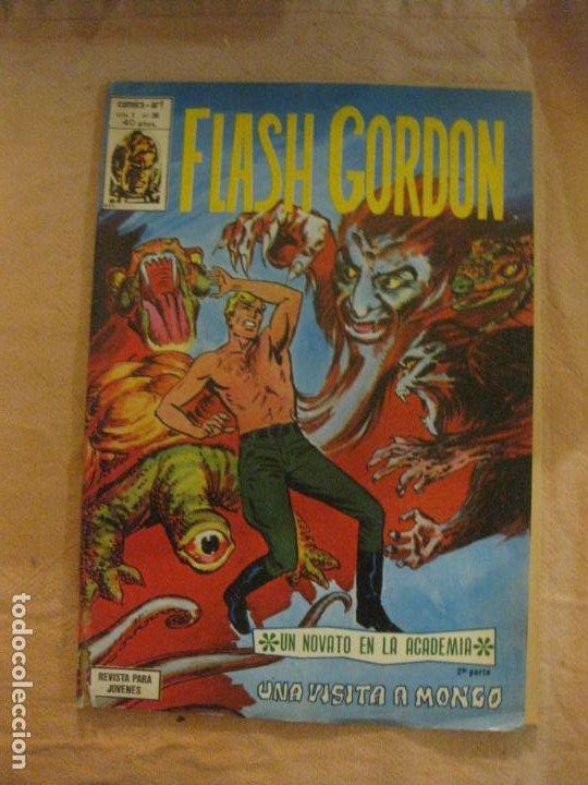 FLASH GORDON V. 1 Nº 36. EDICIONES VERTICE. (Tebeos y Comics - Vértice - Flash Gordon)