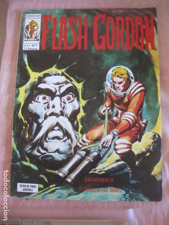 FLASH GORDON V. 1 Nº 15. EDICIONES VERTICE. (Tebeos y Comics - Vértice - Flash Gordon)