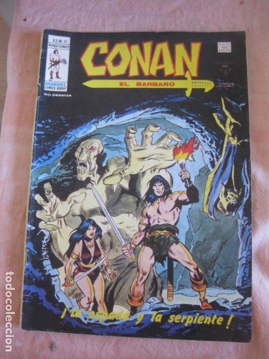 CONAN EL BARBARO V.2 Nº 27. MUNDI COMICS. VERTICE. (Tebeos y Comics - Vértice - Relatos Salvajes)