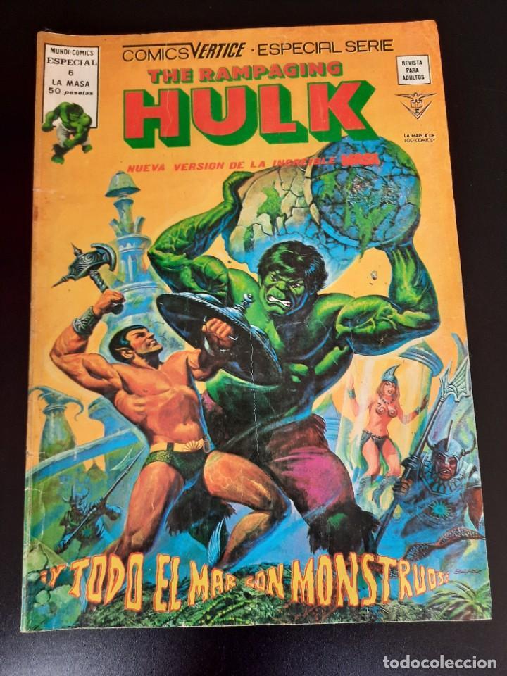HULK (1978, VERTICE) -RAMPAGING- 6 · III-1979 · Y TODO EL MAR, CON MONSTRUOS (Tebeos y Comics - Vértice - La Masa)